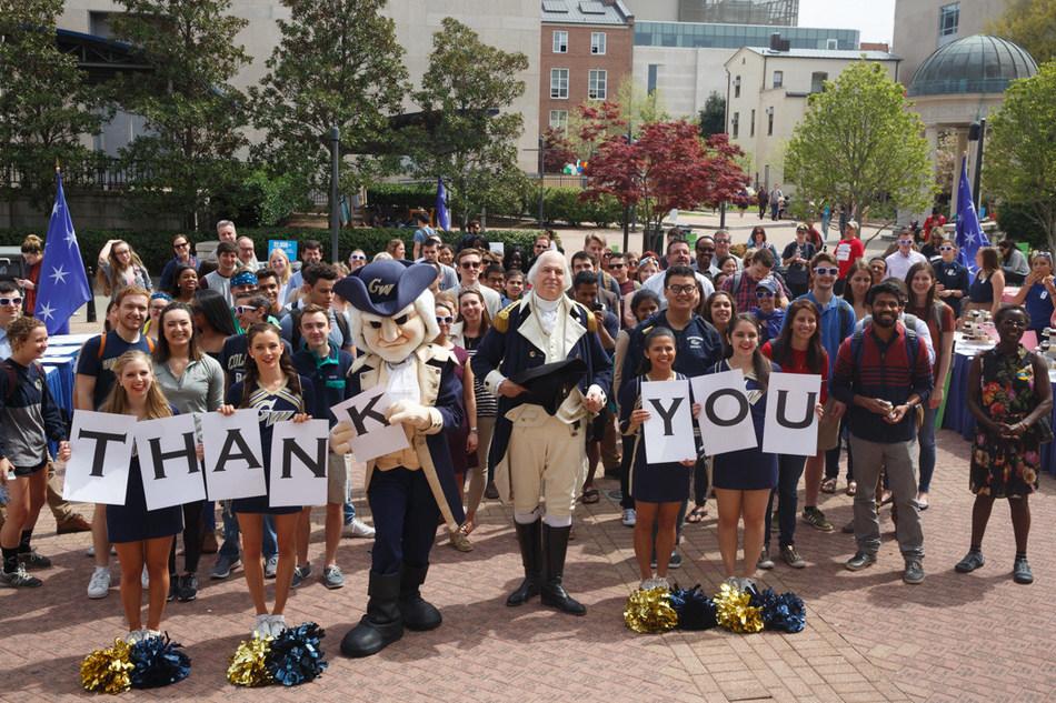 The George Washington University surpasses $1 billion fundraising goal.
