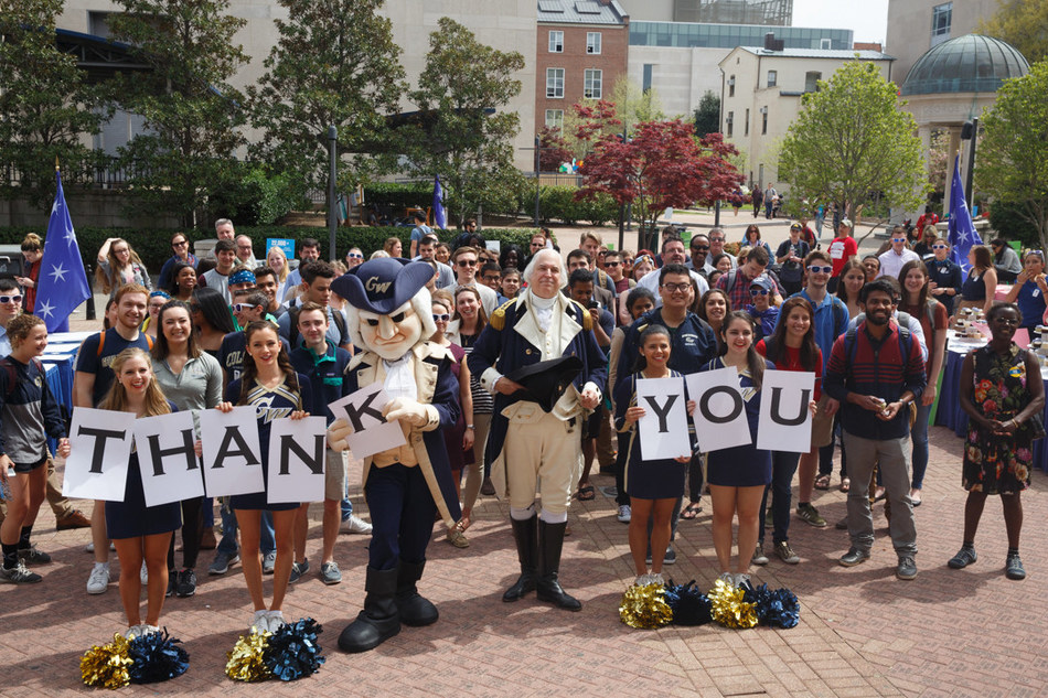 The George Washington University surpasses $1 billion fundraising goal.