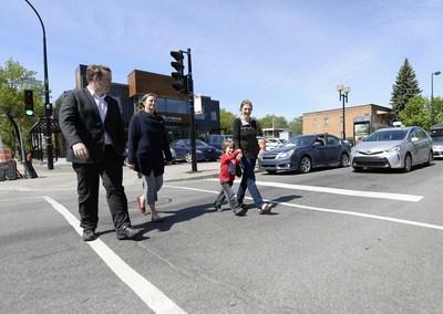 Mesures de sécurisation de l'intersection Rosemont et d'Iberville (Groupe CNW/Ville de Montréal - Cabinet du maire et du comité exécutif)