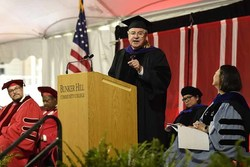 Massachusetts House Speaker Robert A. DeLeo delivered the keynote address today at the Forty-third Commencement exercises of Bunker Hill Community College (BHCC).