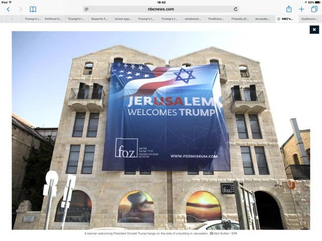 Friends of Zion all over the world welcome Trump