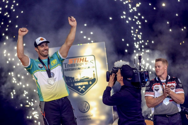 Australia's Brad De Losa wins the Champions Trophy 2017. (PRNewsfoto/STIHL TIMBERSPORTS)