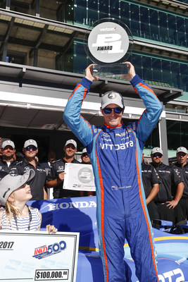 Scott Dixon qualified his Chip Ganassi Racing Honda on the pole today for next Sunday's Indianapolis 500.
