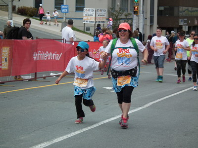 Youth finisher at the Scotiabank Blue Nose Marathon! (CNW Group/Scotiabank)