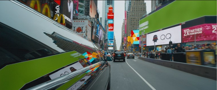 In Fast & Furious 8, Tencent QQ shows up in one of the NYC racing scenes