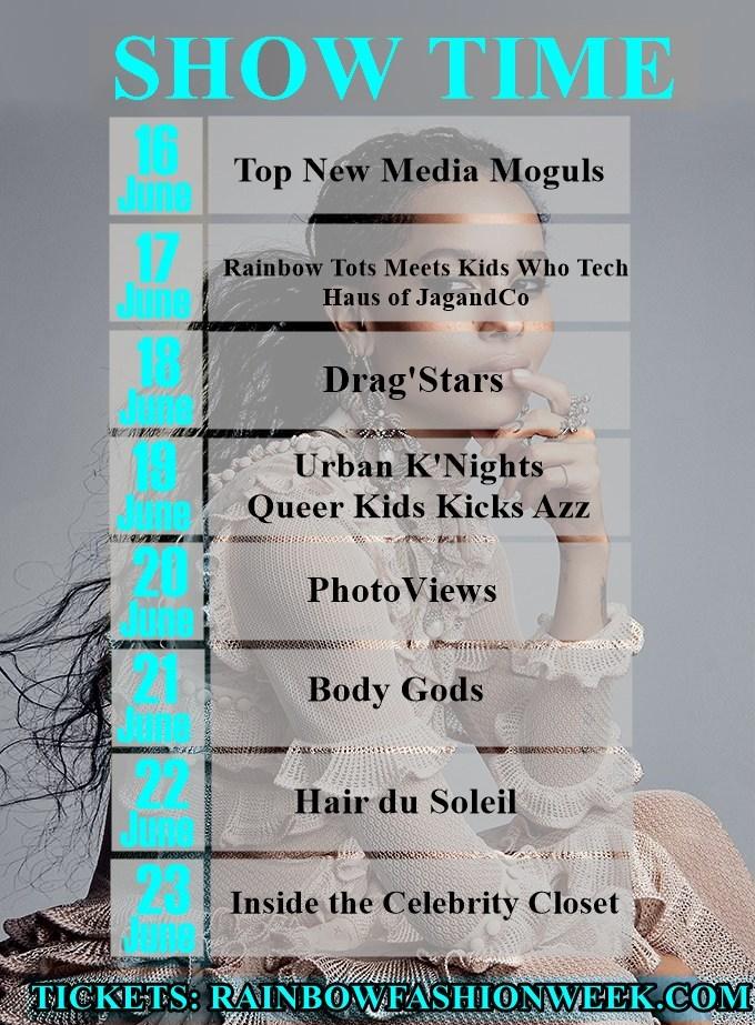 Rainbow Fashion Week Show Details