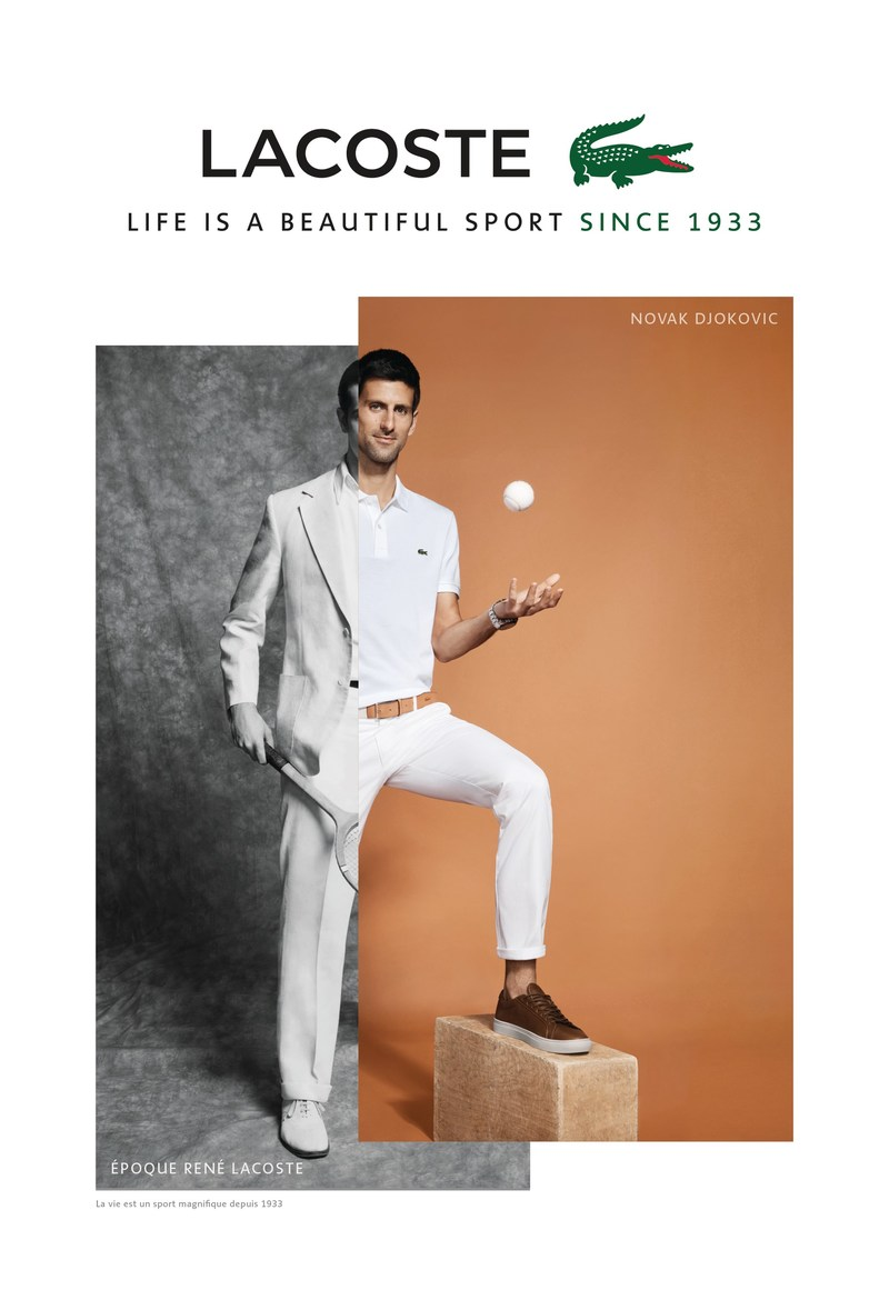 lacoste announces novak djokovic as new style ambassador. Black Bedroom Furniture Sets. Home Design Ideas