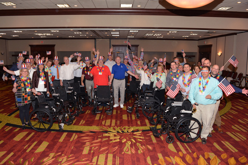 Vector Security® managers and senior executives built and donated wheelchairs to Paralyzed Veterans of America.
