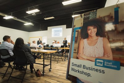 Entrepreneurs and small-business leaders from the Upper Rio Grande Valley gathered on May 11 at Grindstone Coworking in Edinburg, Texas, for a BBVA Compass-sponsored workshop on entrepreneurship and the ins and outs of writing a business plan, using business credit, and understanding financial statements.