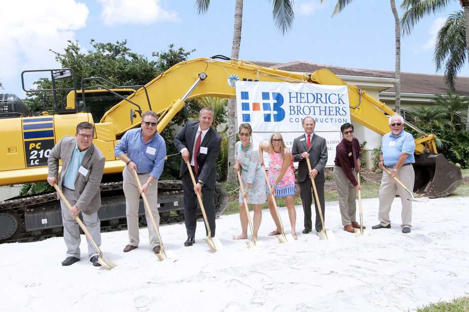 BallenIsles Breaks Ground on $35 Million Clubhouse Renovation.   L to R: Chief Membership Officer, PGA of America John Easterbrook, Chairman and CEO of Troon Golf Dana Garmany, BallenIsles General Manager/COO Chris Card, Palm Beach Gardens Mayor Maria Marino, Palm Beach Gardens City Council Member Rachelle Litt, Palm Beach Gardens Vice-Mayor Mark Marciano, Palm Beach Gardens City Council Member Matthew Lane and BallenIsles Board of Directors President Jack Cook. (PRNewsfoto/BallenIsles Country Club)