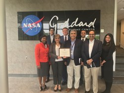 Sure Secure Solutions accepted the award for Center-Level Small Business Prime Contractor of the Year at Goddard Space Flight Center on May 4, 2017.
