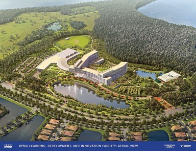 Artistic rendering of KPMG's new learning, development & innovation facility in Lake Nona, FL