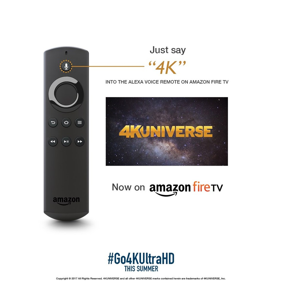 4KUniverse Amazon Fire TV Promo Graphic