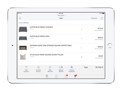 City Furniture is equipping more than 400 sales associates with MobileFirst for iOS apps for iPad Pro – Sales Assist (pictured) and two custom built Payment and Finance iOS apps – to deliver a more efficient, personalized shopping experience for its south Florida customers.  Sales associates using the apps cut the shopping time in half for in-showroom customers while growing the average purchase order by over 5 percent per customer.