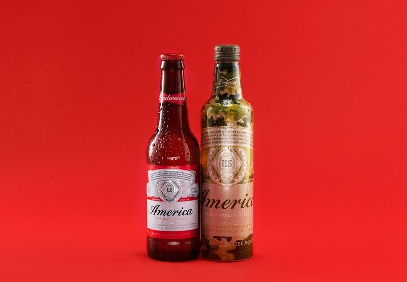 For every Budweiser America bottle and can sold this week in the lead-up to Memorial Day (May 22-29), a portion of the proceeds, up to $1 million, will benefit Folds of Honor.