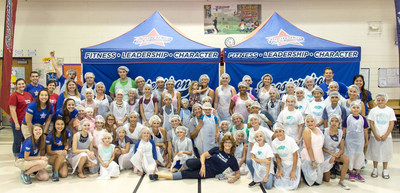 Phoenix-area parents, students, teachers and staff joined together at Riggs Elementary School in Gilbert, Ariz., to make 5,000 meals on Saturday as part of the Boosterthon National Giveback Day. More than 160,000 meals were made across the country in 22 cities for families in need.