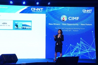 Lily Zhang Giving Speech on CIMF