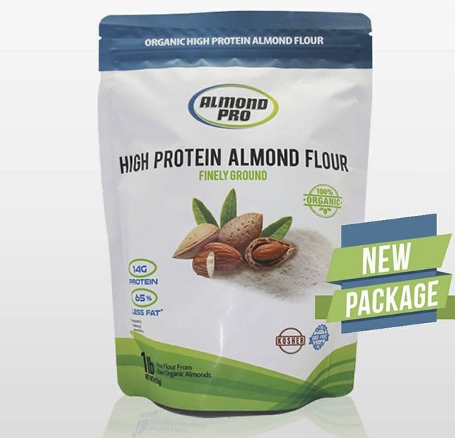 Almond Pro's High protein Almond Flour is the nation's only almond flour that is high in protein, contains 65% less fat than traditional almond flour, and is certified organic.
