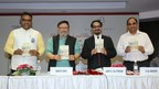 JGU Vice Chancellor Prof. (Dr.) C Raj Kumar, Mr Shakti Sinha, Director, Nehru Memorial Museum and Library, Author Prof (Dr) Arup K. Chatterjee and JGU Registrar Dr. YSR Murthy at the book launch (PRNewsfoto/O.P. Jindal Global University)