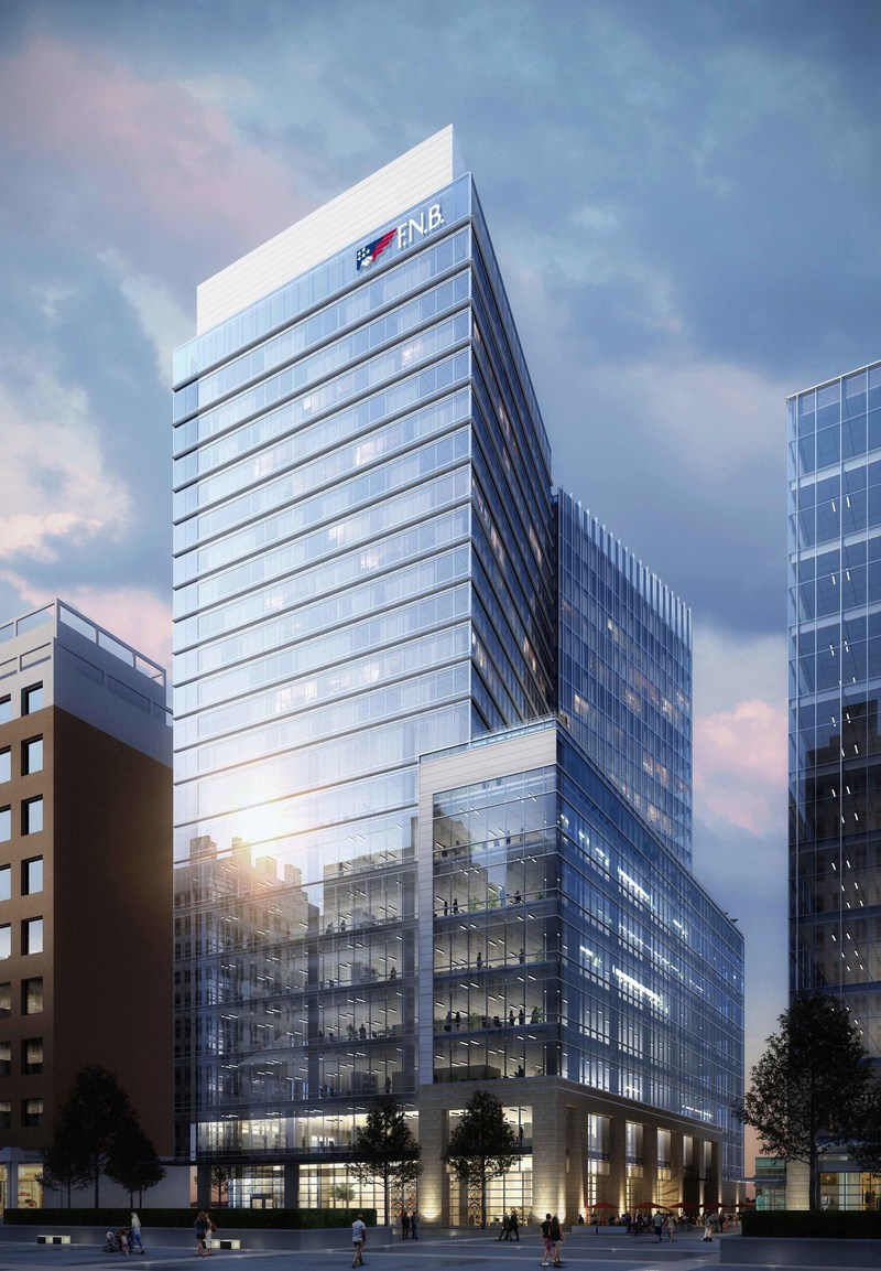 A rendering of FNB Tower at 501 Fayetteville Street in Raleigh, NC