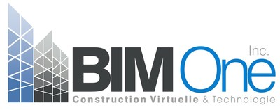 Logo :  Construction virtuelle et technologie BIM One Inc. (Groupe CNW/Construction virtuelle et technologie BIM One Inc.)