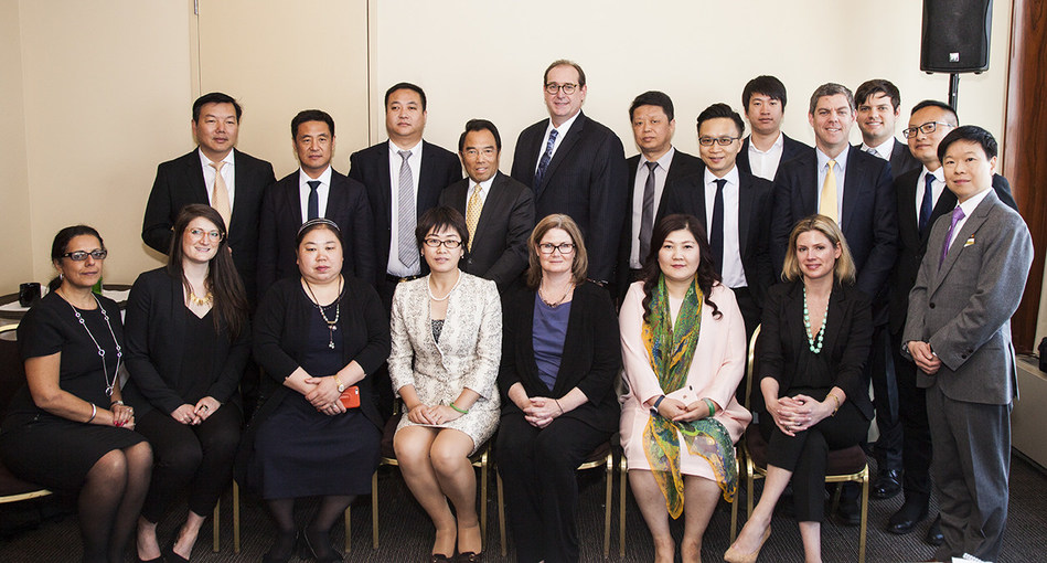 Porter Novelli leaders meet with CEO, members and executives of CASME and the former China UN ambassador