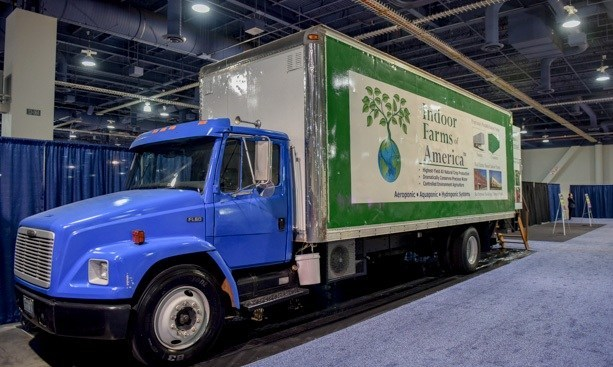 GrowTruck Container Farm Display at 2017 Indoor AgCon Las Vegas