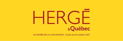 Hergé à Québec au Musée de la civilisation (Groupe CNW/Musée de la Civilisation)