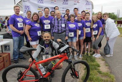 The PrintWorks team shown here supporting the great cause that is Amy's Ride-Run-Walk