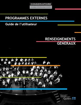 Les programmes externes du Conservatoire ont été réédités et sont maintenant disponibles en ligne gratuitement. (Groupe CNW/Conservatoire de musique et d'art dramatique du Québec)