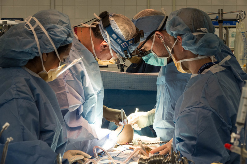 Cardiac team performs open heart surgery at the Sandra Atlas Bass Heart Hospital at North Shore University Hospital.
