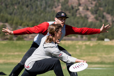 U.S. National Team players Claire Chastain (Denver Molly Brown) and Nick Stuart (Seattle Sockeye).