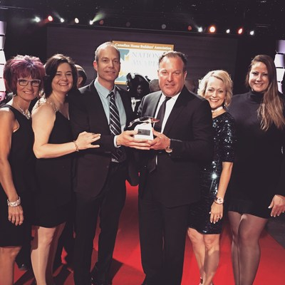 Niagara Builder Wins Best Community Development at the 2017 CHBA National Awards for Housing Excellence (CNW Group/Lucchetta Homes)
