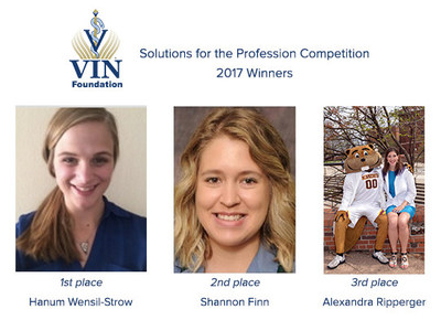 2017 Winners of the VIN Foundation Solutions for the Profession Competition