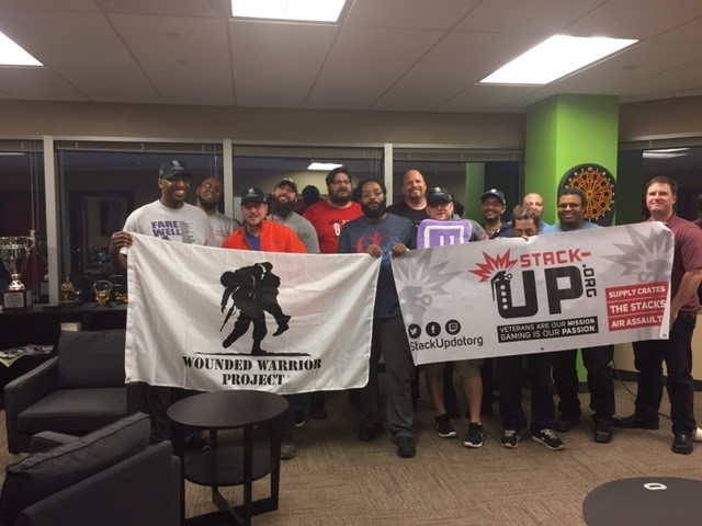 Wounded Warrior Project and Stack-Up got together for a games night with wounded veterans in Pittsburgh.