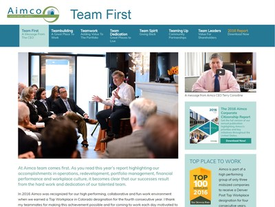 Apartment Investment and Management Company invites visitors to learn more about the company's business, culture, and corporate citizenship program through its interactive microsite.