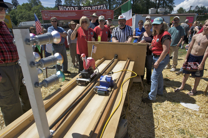 Our most popular event - Belt Sander Races. The popular Belt Sander races will return this year featuring extended race time! Bring along your favorite decorated belt sander to try your luck at beating the competition. (Racers: The track meets IBSA track specifications). Don't have a sander? Try one from our fleet!