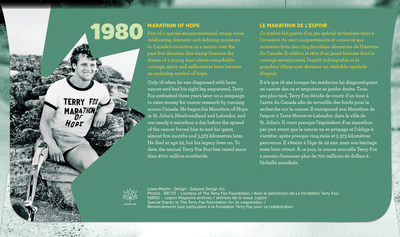 Back cover of the Official First Day Cover / Verso du Pli Jour officiel (CNW Group/Canada Post)
