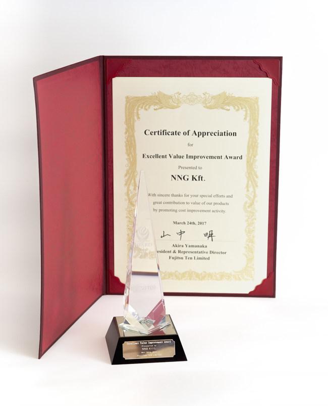 Fujitsu Ten Supplier Excellence Award