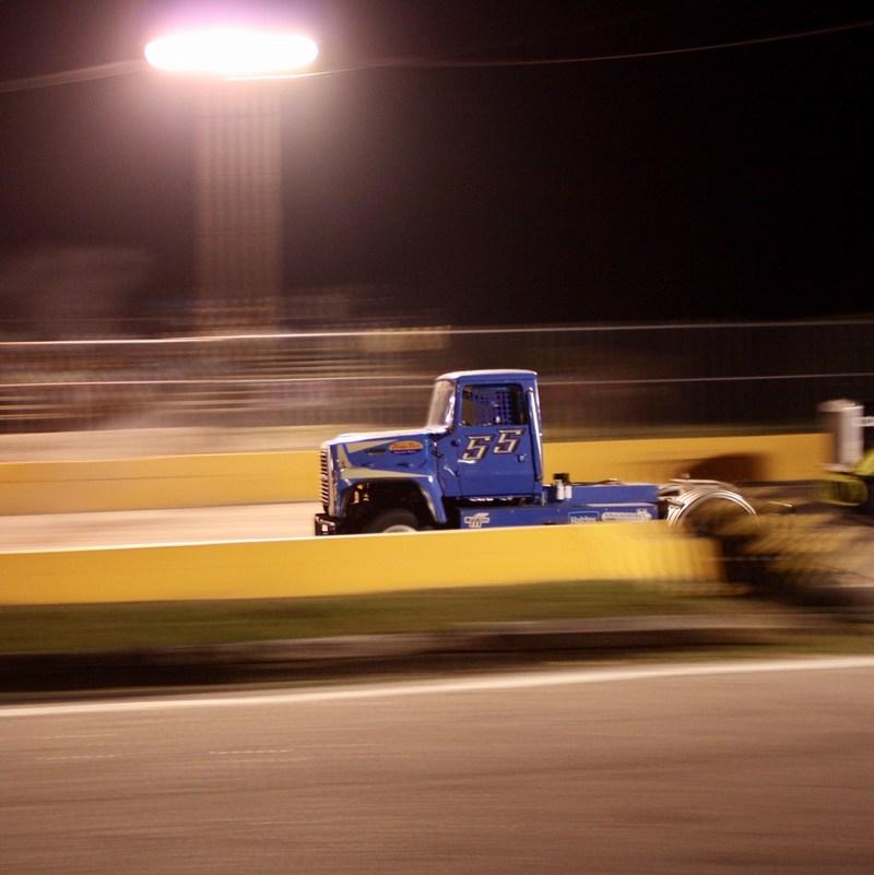 Bandit Big Rig Racing under the lights.