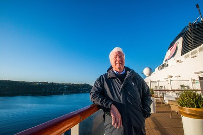 Torstein Hagen, Founder and Chairman of Viking Cruises, on board the company's first ocean ship, Viking Star®, in Bergen, Norway. Founded in 1997, Viking is now the leader in river and small ship ocean cruises and is celebrating its 20th anniversary in 2017. Visit www.vikingcruises.com for more information.