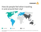 How do people feel when traveling in and around their city?