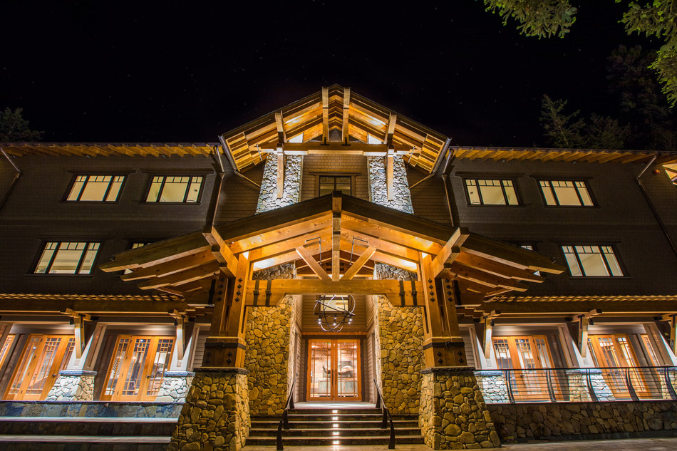 The Lodge at 1440 Multiversity, a new 75-acre learning campus in the redwoods of Santa Cruz County, California.