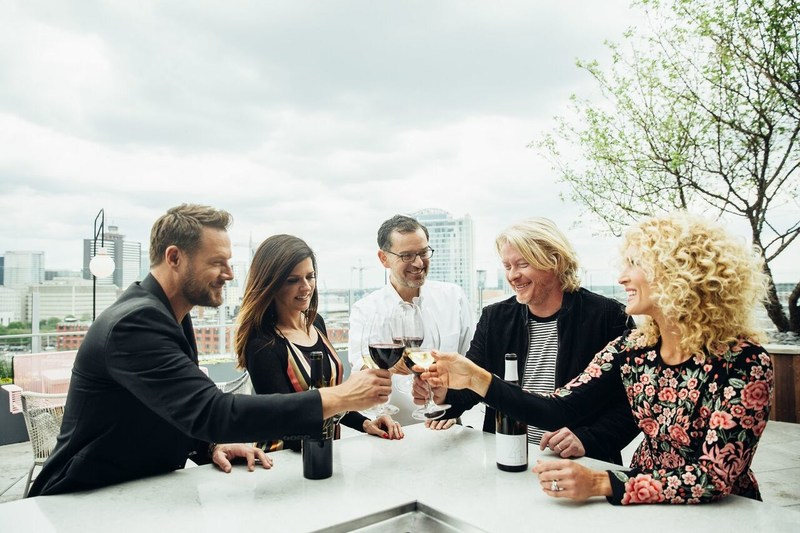 Grammy Award-winning Little Big Town and its four members – Karen Fairchild, Phillip Sweet, Kimberly Schlapman and Jimi Westbrook – have launched 4 Cellars, as a tribute to family, friends and fans with Washington state's Browne Family Vineyards and its Proprietor Andrew Browne. (PRNewsfoto/4 Cellars)