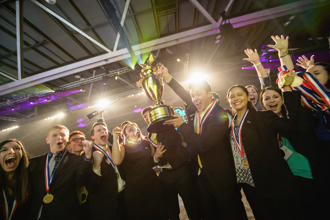 The Enactus team from John Brown University (Siloam Springs, AR) is named 2017 Enactus United States National Champion in Kansas City, MO. Next stop for the team will be to represent the United States alongside 34 other countries at the 2017 Enactus World Cup Sep 26-28 in London, England.