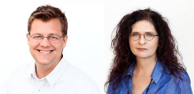 Denis deBlois et Michelle Savoie, professeurs à la Faculté de pharmacie de l''Université de Montréal. (Groupe CNW/Palais des congrès de Montréal)