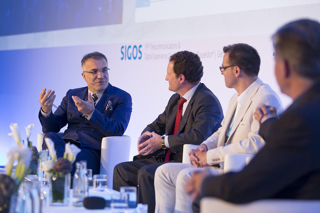 SIGOS CEO Adil Kaya; SIGOS's 19th Telecommunications and Digital Experience Conference in Dusseldorf, Germany.