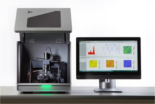 Nanomechanics will present its new nanomechanical testing system known as the Gemini. This system has the ability to measure not only load and displacement but stiffness and phase angle.