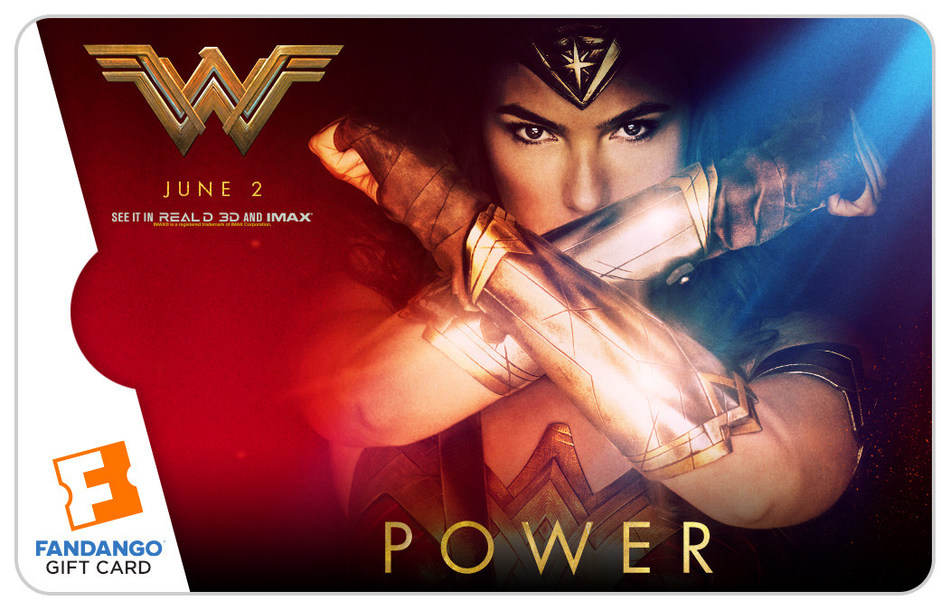 "Fandango ""Wonder Woman"" Gift Cards"