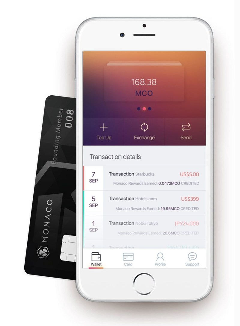 Monaco App and Card offering perfect interbank exchange rates
